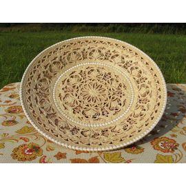 Тарелка из бересты резная «Ажурная», фото