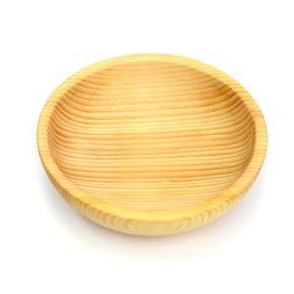 Тарелка деревянная средняя D15,5 H5 (скругленная), фото