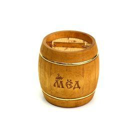 Бочонок для меда «Бондарь» темный 1,0 кг, фото