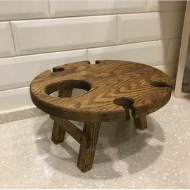 Винный столик на 4 бокала со складными ножками, фото