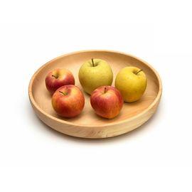 Тарелка деревянная большая D29 H5. Деревянная посуда для кухни, фото