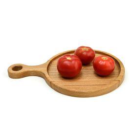"""Тарелка - подставка с ручкой деревянная """"Сковородница"""", фото"""