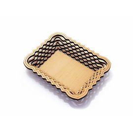 Тарелка из кедра прямоугольная, фото
