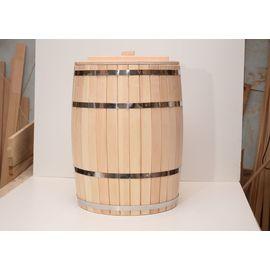 Бочка деревянная с крышкой 200 литров, фото