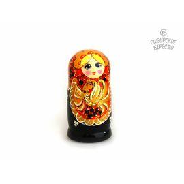 """Матрешка большая """"Жар-птица"""" 5 кукол (Темная), фото"""