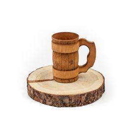 Кружка деревянная для пива, для бани 0,5 л, фото