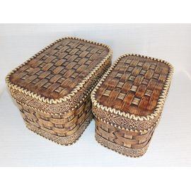 Набор из двух плетеных коробов, фото