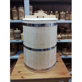 Бочка деревянная из кедра 75 литров. Бочка для воды, фото
