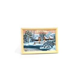 """Картина из бересты """"Зима"""" 33х23, фото"""