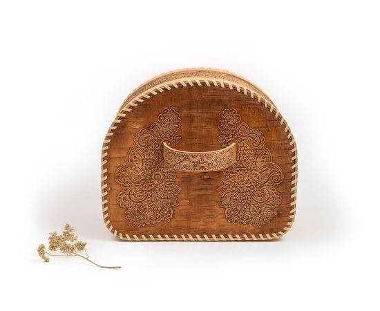 Хлебница из бересты полукруглая «Фея», фото , изображение 5