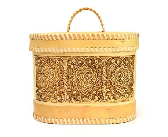 """Хлебница - короб из бересты """"Орнамент"""", фото , изображение 2"""