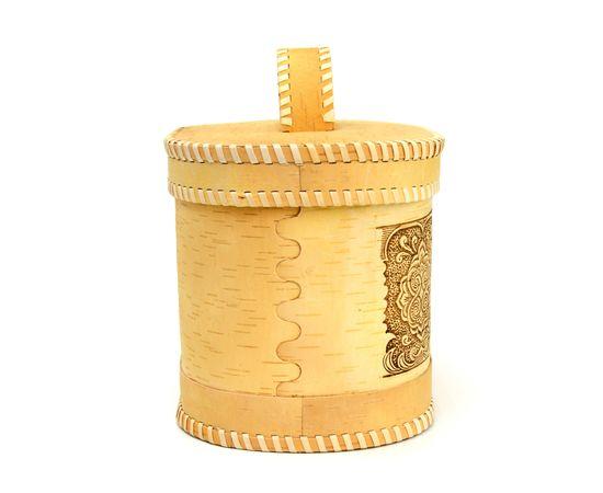 """Хлебница - короб из бересты """"Орнамент"""", фото , изображение 3"""