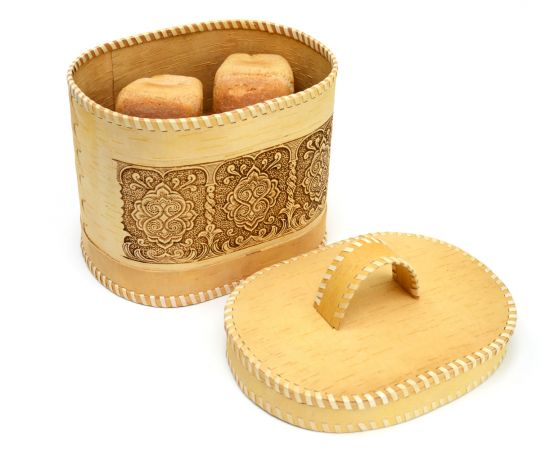 """Хлебница - короб из бересты """"Орнамент"""", фото , изображение 6"""
