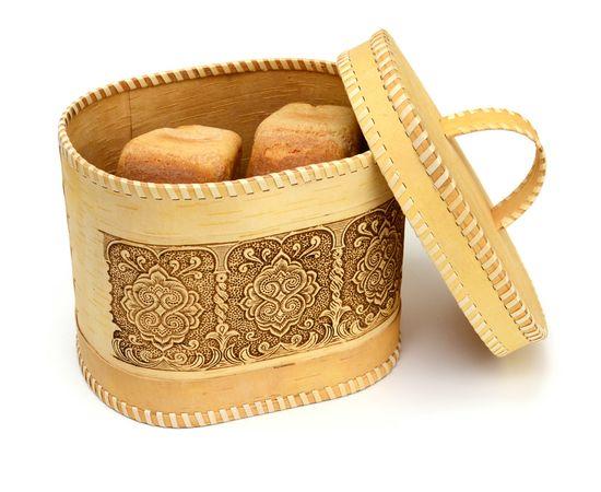 """Хлебница - короб из бересты """"Орнамент"""", фото , изображение 7"""