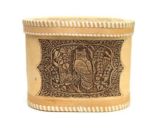 """Хлебница - короб из бересты """"Филин"""", фото , изображение 2"""