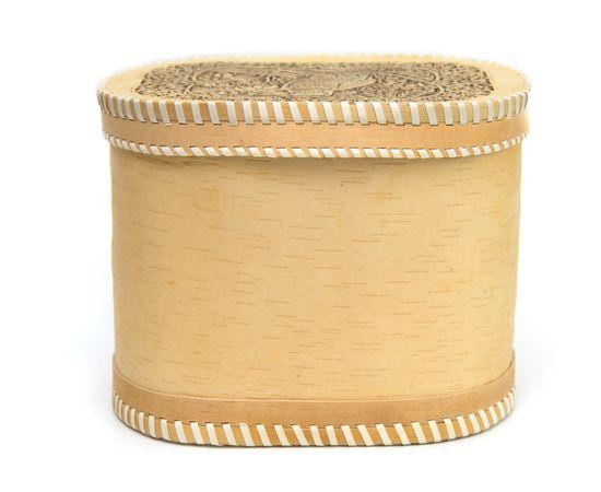"""Хлебница - короб из бересты """"Филин"""", фото , изображение 4"""