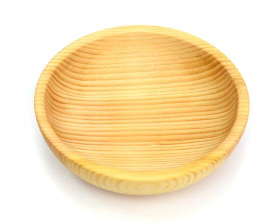 Тарелка деревянная средняя D15,5 H5 (скругленная), фото , изображение 3