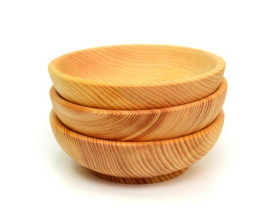 Тарелка деревянная средняя D15,5 H5 (скругленная), фото , изображение 4