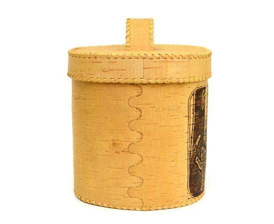 """Хлебница большая овальная """"Лесные жители"""". Короб из бересты, фото , изображение 2"""