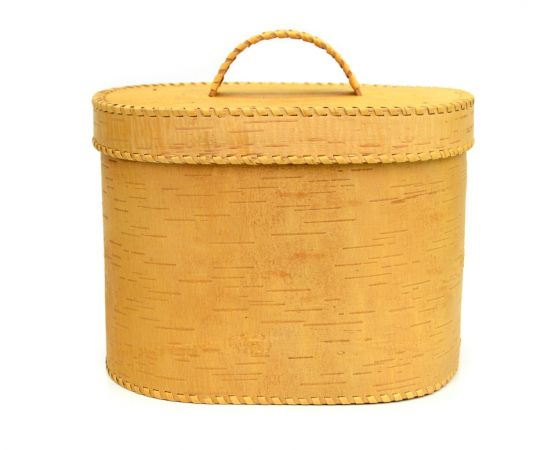 """Хлебница большая овальная """"Лесные жители"""". Короб из бересты, фото , изображение 3"""