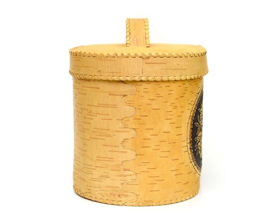 """Хлебница большая овальная """"Лесные дары"""". Короб из бересты, фото , изображение 2"""