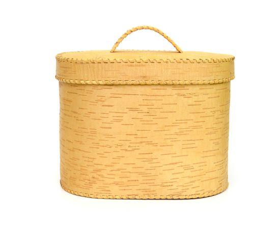 """Хлебница большая овальная """"Лесные дары"""". Короб из бересты, фото , изображение 3"""
