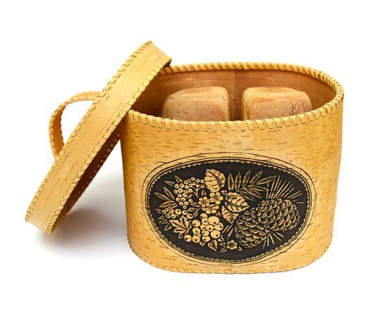 """Хлебница большая овальная """"Лесные дары"""". Короб из бересты, фото , изображение 5"""