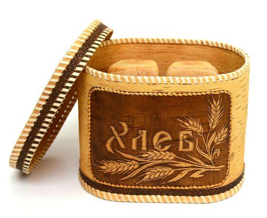 """Хлебница - короб из бересты """"Хлеб"""", фото , изображение 5"""