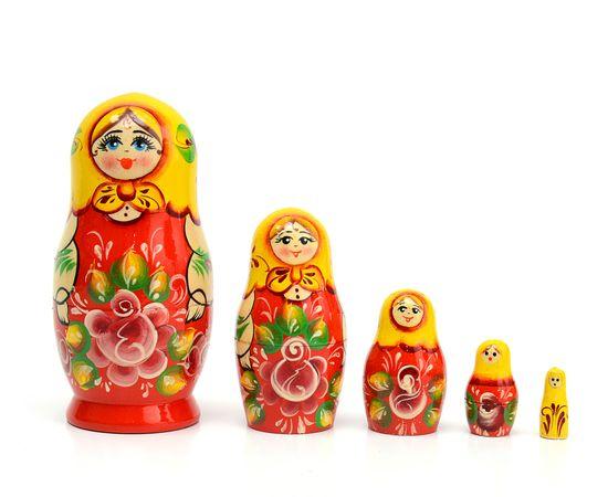 Матрёшка малая «Роза» 5 кукол, фото , изображение 2