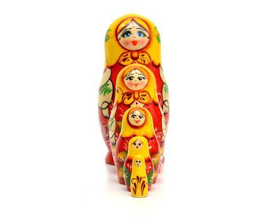 Матрёшка малая «Роза» 5 кукол, фото , изображение 3