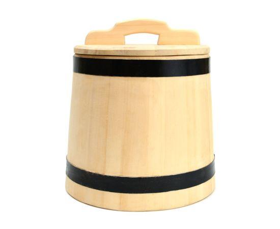 Кадка деревянная из кедра для засолки 15 литров, фото , изображение 2