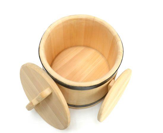 Кадка деревянная из кедра для засолки 15 литров, фото , изображение 6