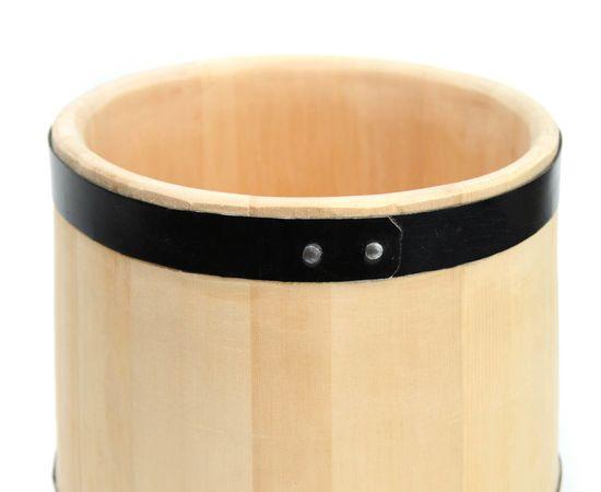 Кадка деревянная из кедра для засолки 15 литров, фото , изображение 7