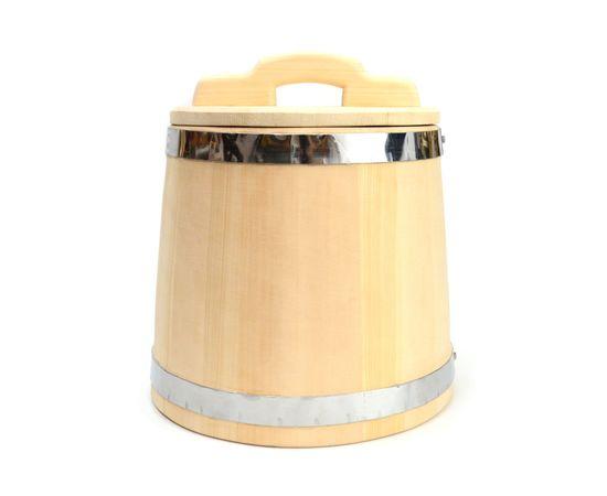 Кадка из кедра 15 л обручи из нержавеющей стали, фото , изображение 3