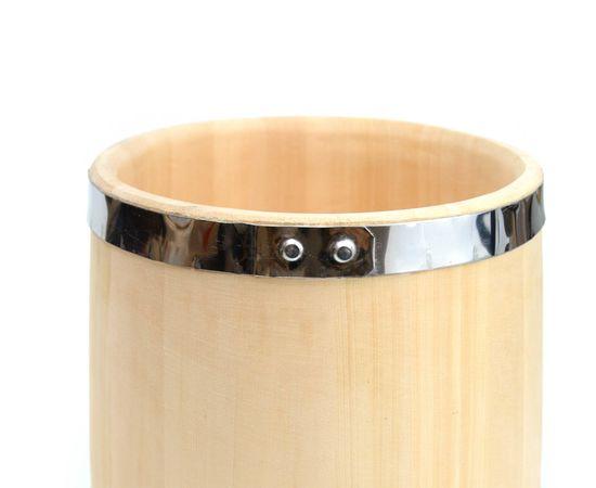 Кадка из кедра 15 л обручи из нержавеющей стали, фото , изображение 6