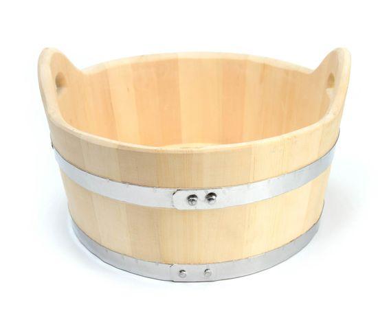 Шайка деревянная для бани 15 л, фото