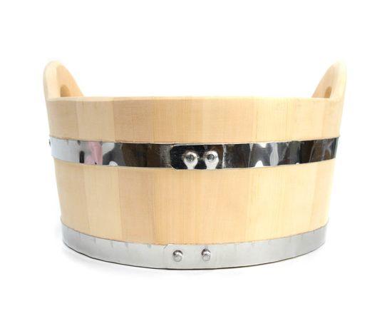 Шайка деревянная для бани 15 л, фото , изображение 2