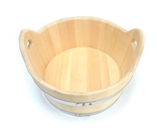 Шайка деревянная для бани 15 л, фото , изображение 3