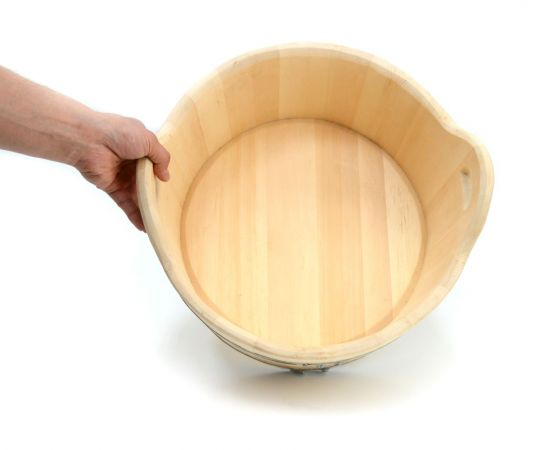 Шайка деревянная для бани 15 л, фото , изображение 4