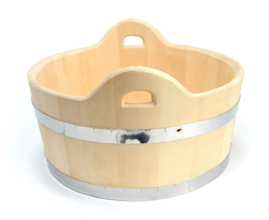 Шайка деревянная для бани 15 л, фото , изображение 5