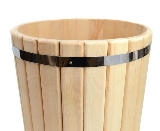 Кадка кедровая с гнетом и крышкой 20 л, фото , изображение 5