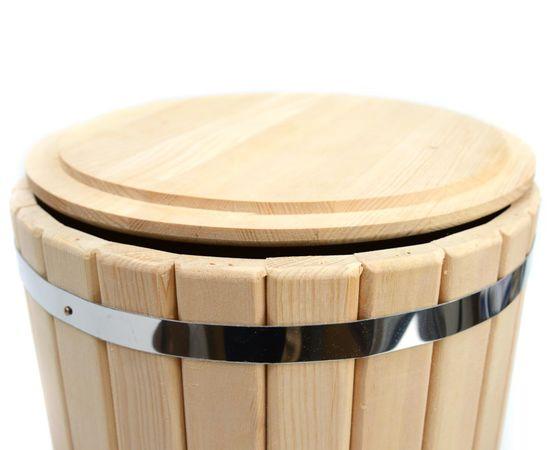 Кадка кедровая с гнетом и крышкой 20 л, фото , изображение 7