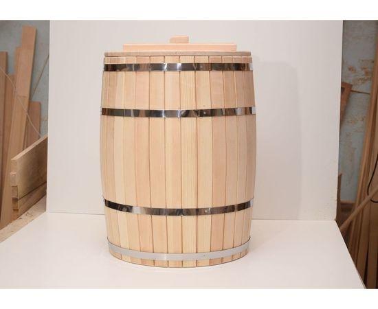 Бочка деревянная гнутая с крышкой 90 л (без гнета), фото , изображение 4