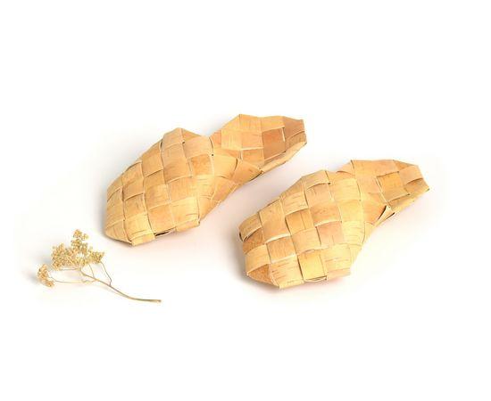 Тапочки, Шлепки из бересты, фото , изображение 2