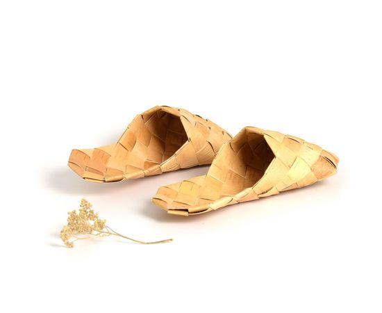 Тапочки, Шлепки из бересты, фото , изображение 4