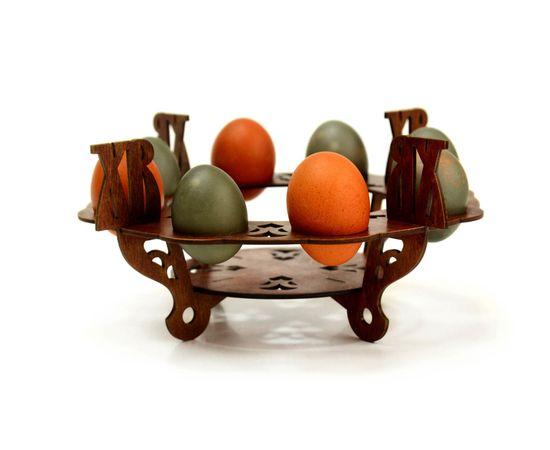 Подставка пасхальная цветная под яйца и кулич D25, фото