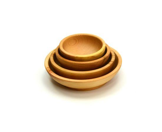 Набор посуды из дерева (скругленный), фото , изображение 3