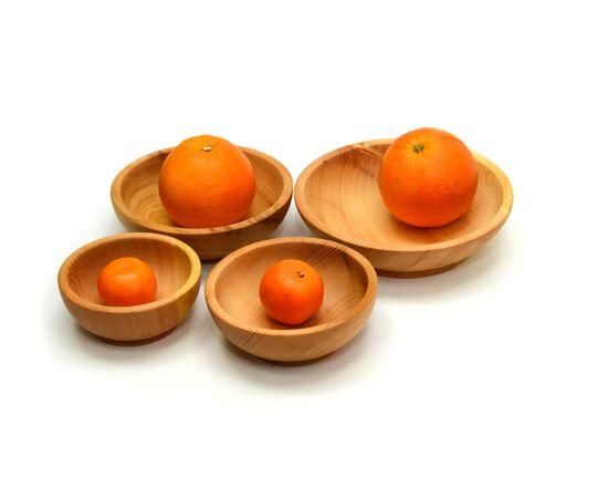 Набор посуды из дерева (скругленный), фото , изображение 2