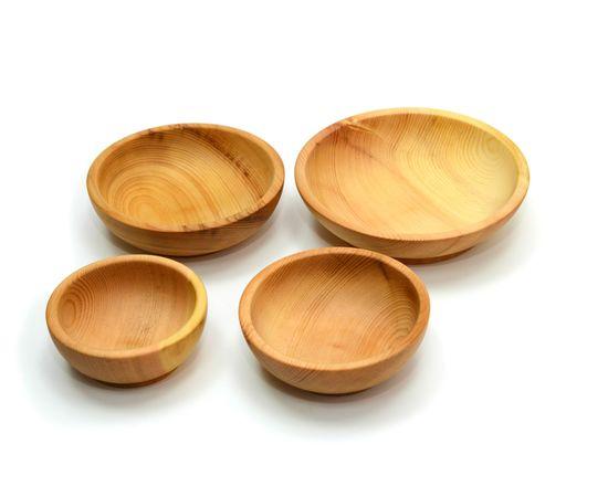 Набор посуды из дерева (скругленный), фото