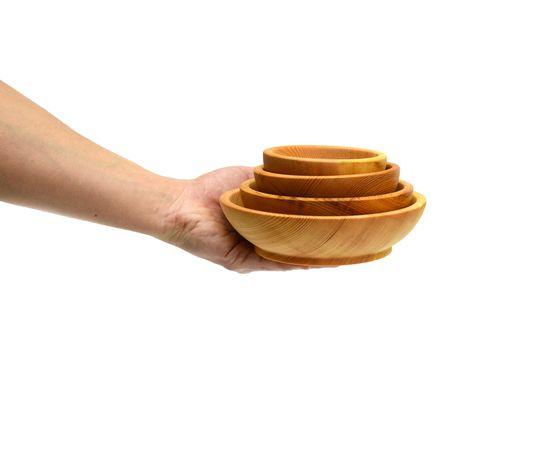 Набор посуды из дерева (скругленный), фото , изображение 5